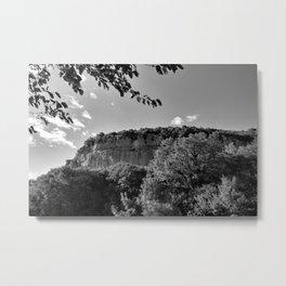 rock cliff at lim channel fjord istria croatia europe black white Metal Print