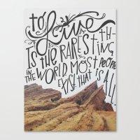 oscar wilde Canvas Prints featuring oscar wilde said that. by darynberry