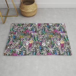 Gemstone Cats CYMK Rug