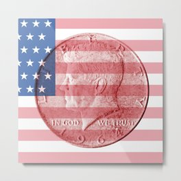 USA - Half Dollar 1964 - Front Metal Print