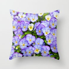 Horned pansy Throw Pillow