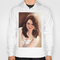 emma stone Hoodies featuring Emma Stone by Chanuka Hemachandra