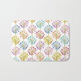 Heart Flower - colorful Bath Mat