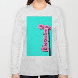 Cha-Cha's Tacos Retro Vintage Pink Sign Long Sleeve T-shirt