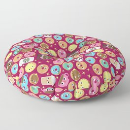 coffee and donuts Floor Pillow