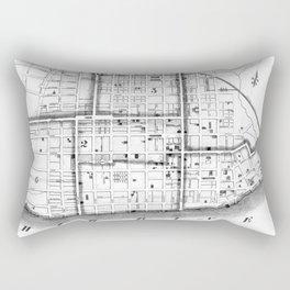 Vintage Map of Cincinnati Ohio (1841) BW Rectangular Pillow
