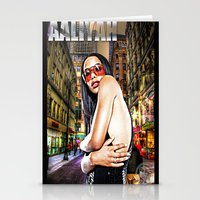 aaliyah Stationery Cards featuring Street Phenomenon Aaliyah by D77 The DigArtisT