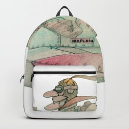 Vintage comics airplane and pilot (airplain) Backpack