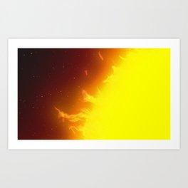 Sun Selfie Art Print