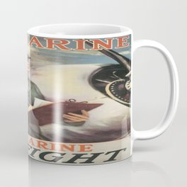 Vintage poster - Be a Marine Coffee Mug