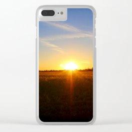 Sunset 032517 Abilene, Texas Clear iPhone Case
