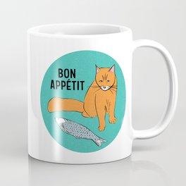 Bon Appetit - Cat with Fish Coffee Mug