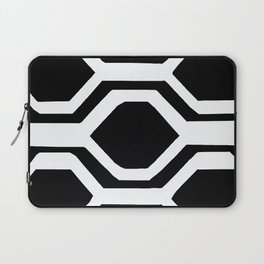 Black and White Geometric Laptop Sleeve