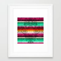 mexico Framed Art Prints featuring Mexico by Joanna Tadger