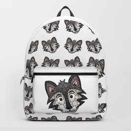 Howl You Doin'? - Cute Wolf - Puppy - 57 Montgomery Ave Backpack