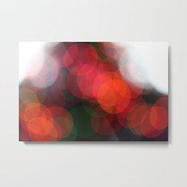 Christmas Lights Bokah  Metal Print