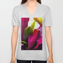 Ti Leaf Bouquet Unisex V-Neck