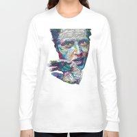 christopher walken Long Sleeve T-shirts featuring christopher walken portrait  by Godhead