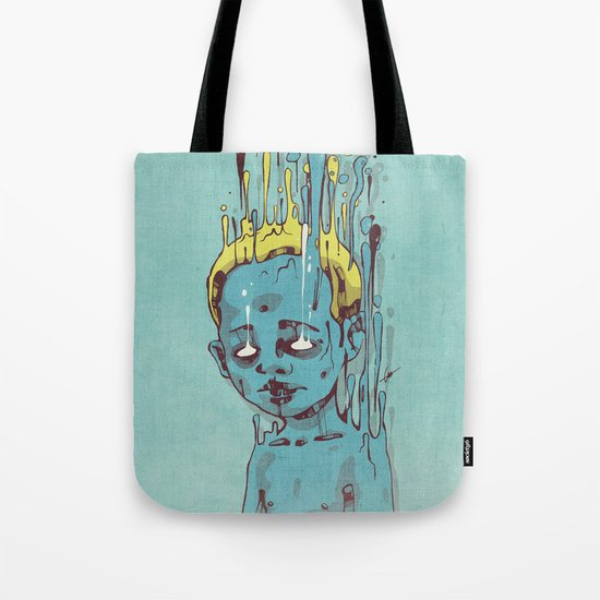 The Blue Boy with Golden Hair Tote Bag