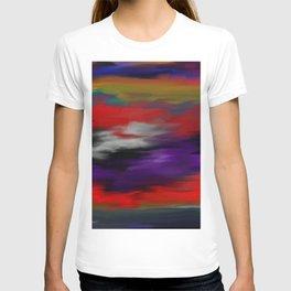 Variegated dark color T-shirt