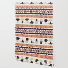 Native American Geometric Pattern Wallpaper