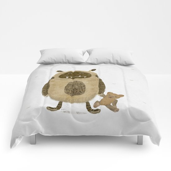monster and bear Comforters