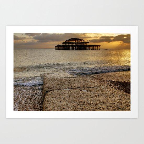 Brighton West Pier Art Print