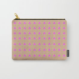 Neon Triangles - Pink Carry-All Pouch