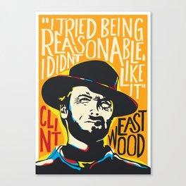 Clint Eastwood Pop Art Portrait Canvas Print