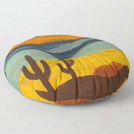 Saguaro Sunset Floor Pillow