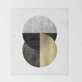 Moon Phase, Mid Century Modern,Scandinavian Abstract Throw Blanket