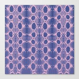 purple snake skin minimal Canvas Print