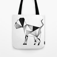 the hound Tote Bags featuring Hound by Line H H