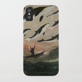 Minke Whale Migration iPhone Case