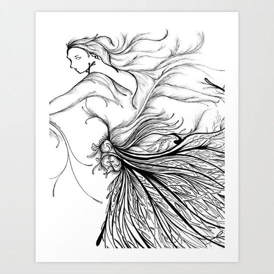 Black Swan (Dancer) Art Print