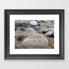 Beach Pebbles Framed Art Print