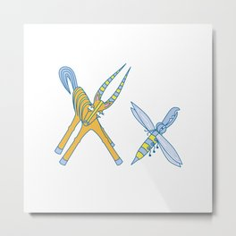 X Uppercase/Lowercase Pair, no border Metal Print