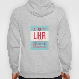 Baggage Tag B - LHR London Heathrow England UK Hoody