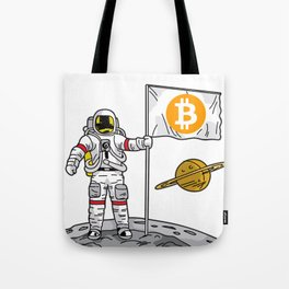 BITCOIN ASTRONAUT Crypto Currency To The Moon Gift Tote Bag