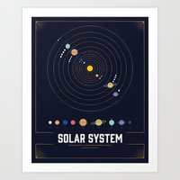 solar system Art Prints featuring Solar System by Ashley Trowel