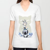 alice V-neck T-shirts featuring Alice by Freeminds