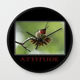 Inspirational Attitude Wall Clock