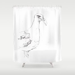 Sinister Seagull Shower Curtain