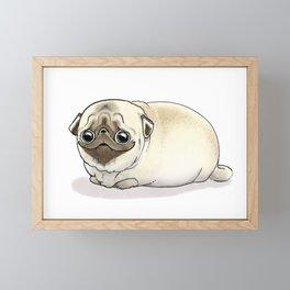Cutie Pug Framed Mini Art Print