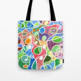 Jubilant Loops Pattern Tote Bag