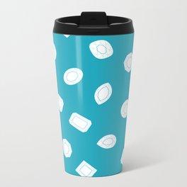 Blue Moissy Gem Pattern Metal Travel Mug