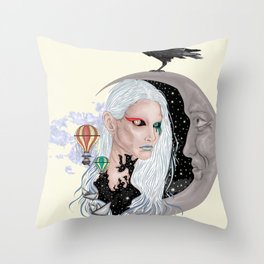 Time - Surreal portrait Throw Pillow