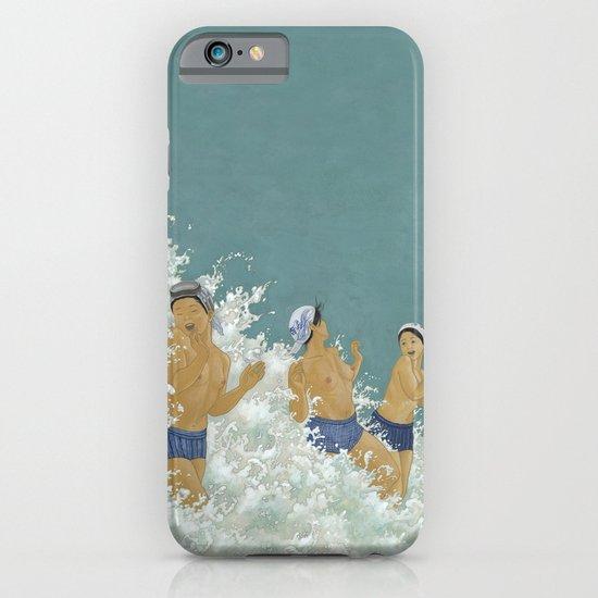 Three Ama Enveloped In A Crashing Wave iPhone & iPod Case