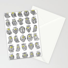 Sleepy Owls Stationery Cards