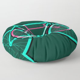 Fixed Gear Road Bikes – Green and Pink Floor Pillow